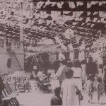 1970 (decada). Plaza de La Luz enramada para las fiestas